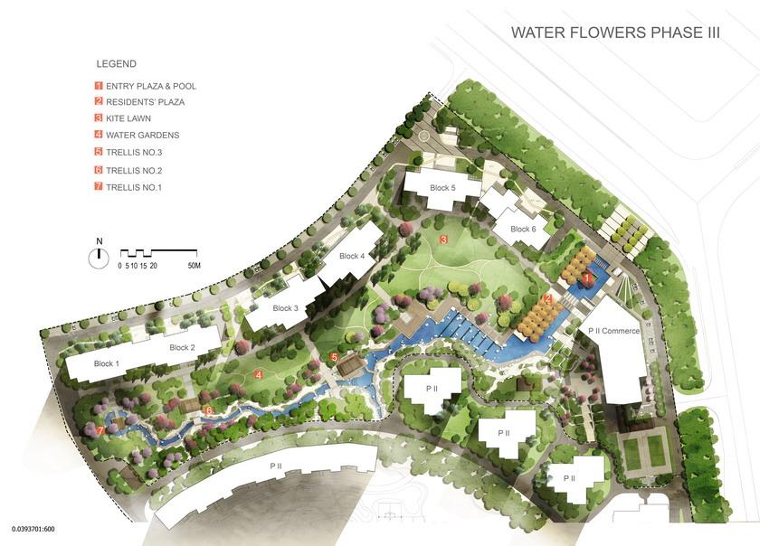 水彩手绘风格-园林景观彩色总平面素材