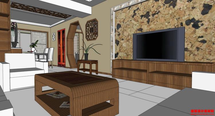 建筑设计素材网---家装室内模型1-sketchup草图大师